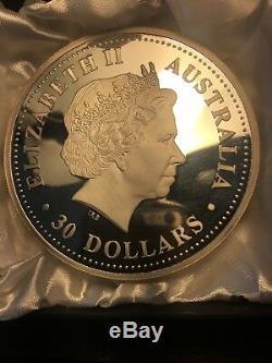 Perth Mint Australia $30 Lunar Pig 2007 1 kg kilo. 999 Silver Coin (100 minted)