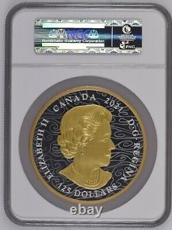 RARE 2021 Canada $125 Triumphant Dragon PF70 NGC 1/2 Kilo. 9999 Silver Coin