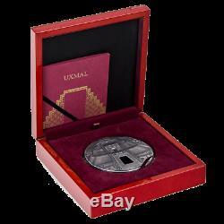 Republic of Chad 2017 10000 Francs CFA UXMAL 1 Kilo Antique finish Silver Coin
