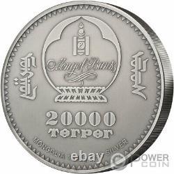 SINRAPTOR Evolution of Life 1 Kg Kilo Silver Coin 20000 Togrog Mongolia 2020