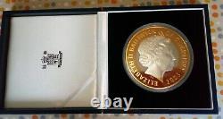 Silver One Kilo Coin, 2003 £50 Proof 50th Anniversary of Coronation COA. 999