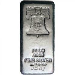 Silver Proclaim Liberty 1 KILO Bar