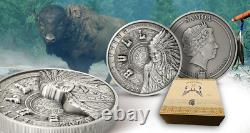 Sitting Bull Comes Alive Multilayer 1 Kg Kilo Silver Coin 25$ Samoa 2020