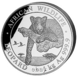 Somalia 2.000 SH. 2020 Leopard African Wildlife 1 Kilo Silber ST
