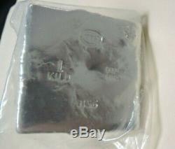 YPS 1 Kilo. 999 Fine Silver Pyramid Design