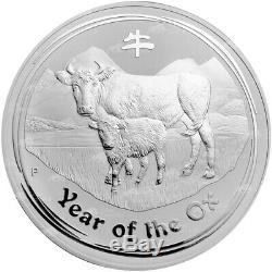 1 KG De 2009 Année Lunaire Du Buffle Silver Coin