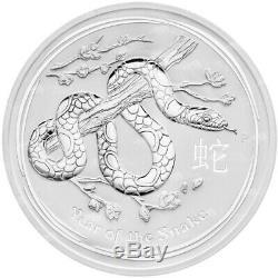 1 KG De 2013 Perth Mint Lunar Année Du Serpent Silver Coin