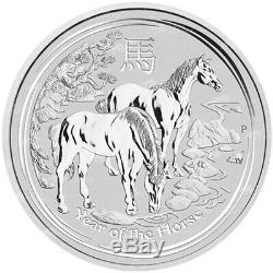 1 KG De 2014 Année Lunaire Du Cheval Silver Coin