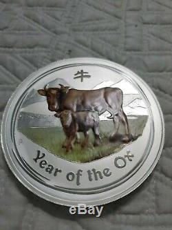 1 KG Kilo 2009 Année Lunaire Du Buffle. 999 Silver Coin Série Lunar