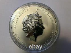 1 KG Kilo 2010 Perth Mint Lunar Year Of The Tiger Silver Coin