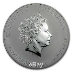 1 KG Kilo 2014 Année Lunaire Du Cheval. 999 Silver Coin En Capsule