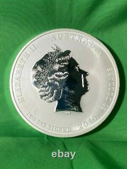 1 Kilo 2010 Perth Mint Lunar Year Of The Tiger. 999 Pièce D'argent