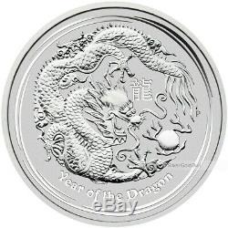 1 Kilo 2012 Année Lunaire Du Dragon. 999 Silver Coin Perth Mint