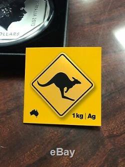 1 Kilo 2013 Signe Route Monnaie Royale Australienne Kangourou Silver Coin Tirage Limité