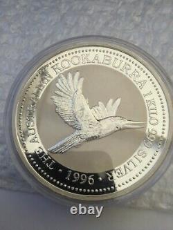 1 Kilo Argent Perth Mint Kookaburra 1996