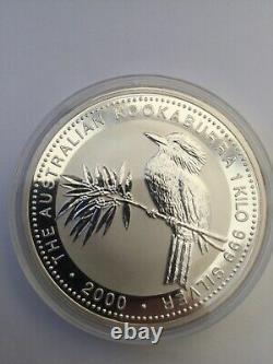 1 Kilo Argent Perth Mint Kookaburra 2000