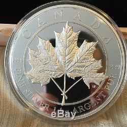 1 Kilo Fin Silver Coins Feuille D'érable Pour Toujours 500 Mintage (2016), 1200 (2012)