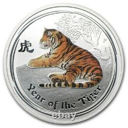 1 Kilo KG 2010 Perth Lunar Color Tiger Silver Coin