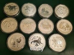 1 Kilo Silver Coin X Cycles De 12 Ans Zodiaque Chinois. 386 Oz 0.999 Argent Fin