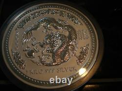 1 Kilo Silver Dragon Australian Lunar Série I Année 2000