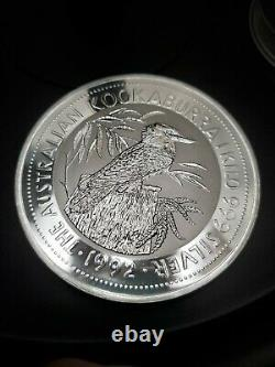 1992 1 Kilo Argent Australien Kookaburra. 999 Lingots De Pièces D'argent