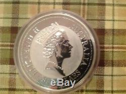 1992 1 Kilo D'argent En Australie Kookaburra. 999 Silver Coin Bullion 32,15 Troy Oz
