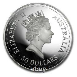 1992 1 Kilo Kookaburra Australien. 999 Preuve Silver Coin Bullion Boîte Et Coa