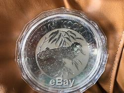1992 Australie Argent 32,15 Oz 1 Kilo Kookaburra Coin Capsule