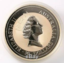 1994 Australie 999 Originale En Argent Fin 1 Kilo Kookaburra Avec Perth Mint Capsule