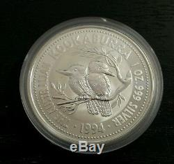 1994 Lingots D'argent De Kookaburra Pièce 1 Kilo KG 10 Oz 2 Oz 1 Oz Perthmint 999