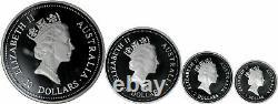 1996 Australie Argent Kookaburra Proof Coin Kilo Collection Avec Étui Et Coa
