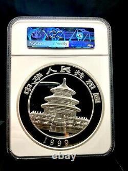 1999 One Kilo China S200y Silver Panda Ngc Pf69 Ultra Cameo Rare Livraison Gratuite