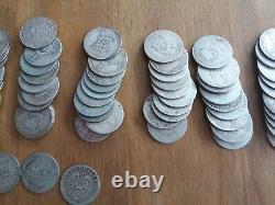 1kg Kilo D'avant 1920 Shillings D'argent Britannique 0,925 Sterling 185 Pièces