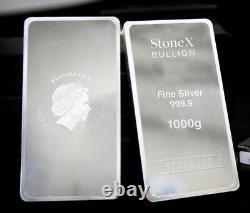 1kg Silver Coin Bullion Bar 999.9 Fine Silver Bar 1 Kilo Gift Box & Certificat