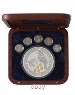 2000 Australie Us Quarter Honor Privy Mark Kookaburra Kilo Pièce D'argent Dorée