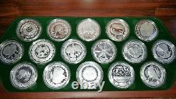 2000 Pièce D'argent Olympique De 16 X 1oz De Sydney Set The Perth Mint / Pièces De 1/2 Kilo