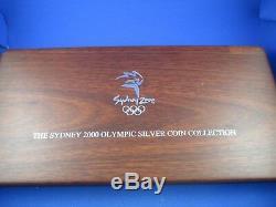2000 Sydney Olympic $ 5 Preuve Argent 16 Collection Coin. 2 Kilos Article Lourd