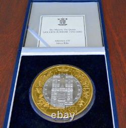 2002 Alderney Golden Jubilee £50 Cinquante Livre D'argent Preuve Kilo Coin Rare