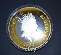 2002 Alderney Jubilé D'or De 50 Fifty Pound Kilo Silver Proof Coin