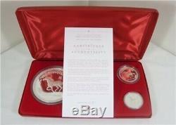 2002 Australie Série Lunaire I Cheval 5 Set Preuve Argent Pièces Kilo