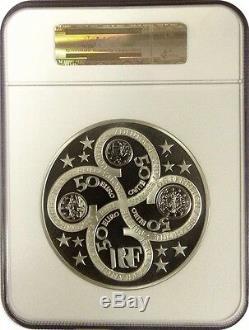 2003 France La Déesse Europa Énorme 1 Kilo KG 50 Euro Coin Argent Ngc Pf68 Rare