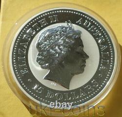 2005 Australie 1/2 Kilo KG Argent Pièce De Monnaie Couleur Lunaire I Année Du Coq 15 $