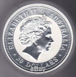 2005 Australie 1 Kilo D'argent Année Du Coq Bu