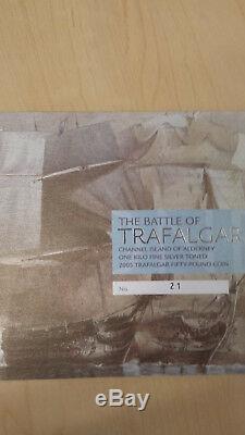 2005 Monnaie Royale Bataille De Trafalgar Fifty Pound Mélodieuses Kilo Coin Withbox Coa