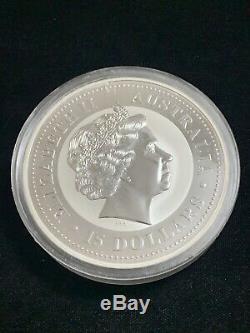2006 Australian Argent Lunaire Année Du Chien 1/2 Kilo. 999 Couleur