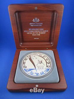 2006 Jeux De Melbourne 30 $ Une Kilo Belle Pièce D'argent Dans La Boîte Superbe Jarrah. Achète-le