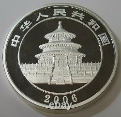 2006, La Chine Argent Kilo Panda. 999 Argent 300y Proof Avec La Boîte Et Coa Le / 4000
