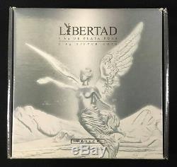 2007 Mexique Libertad Pur Kilo Silver Coin Dans L'affaire Avec Coa