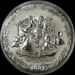 2007 Silver Canada Kilo Proof 32,15 Oz Jeux Olympiques De Vancouver 250 $ Pièce