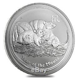 2008 1 Kilo Argent Année Lunaire De La Souris Bu Australie Perth Mint En Cap